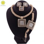 African Wedding <b>Jewelry</b> Big Pendant Necklace Earrings Ring Bracelet Gold Charm Women Bridal <b>Jewelry</b> Sets <b>Accessories</b>