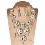Bridal Wedding <b>Jewelry</b> Sets for Women Crystal Gold Color Necklace and Earrings Sets for Female Dubai <b>Jewelry</b> Sets <b>Accessories</b>