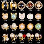 3D Nail <b>Art</b> <b>Jewelry</b> Pearl Alloy <b>Deco</b> Crystal Rhinestones Glitter Tips DIY Nail <b>Jewelry</b> 100Pcs/Pack