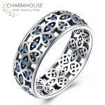 Vintage Sterling Silver 925 Rings for Women Man <b>Antique</b> Silver <b>Jewelry</b> Blue Stone Ring Fashion Statement <b>Jewelry</b> Bague Bijoux