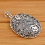 Deer Wang Yinshi Opal Pendant Silver <b>Antique</b> Silver <b>jewelry</b> wholesale 925 Sterling Silver Pendant inlaid female models