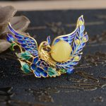 Deer King <b>jewelry</b> pendant beeswax S925 silver Phoenix wear peony <b>antique</b> Shaolan female new technology