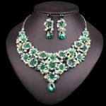 Fashion Crystal Necklace Earrings Sets Bridal <b>Jewelry</b> Sets Rhinestones Party Wedding Costume <b>Accessories</b> Decoration Bride Women