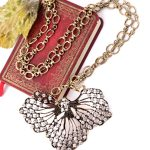 Vintage Crystal Leaves Pendant <b>Antique</b> Gold Color Long Necklace Women's Clothing & Accessories Indian <b>Jewelry</b>