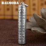 BALMORA 990 Pure Silver Buddhistic Mantra Pendants for Women Men <b>Accessories</b> Vintage Thai Silver <b>Jewelry</b> Without a Chain SY13898