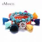 e-Manco Bohemia Mix Multiplelayers Bracelets & Bangles for Women Charms Tassel Crystal Beaded <b>Accessories</b> <b>Jewelry</b>