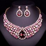 NEW Indian Crystal Choker Necklace Earrings Bridal <b>Jewelry</b> Sets Brides jewellery Wedding Party Costume <b>Accessories</b> Gift Women