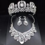 Fashion Clear Crystal Wedding Bridal <b>Jewelry</b> Sets Women Pageant Prom Wedding <b>Jewelry</b> <b>Accessories</b> Bridal Tiara <b>Jewelry</b> Earrings