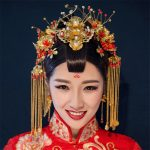 Vintage Chinese Style Classical Wedding <b>Jewelry</b> Sets Gold Color Phoenix Coronet Bridal <b>Accessories</b> Hair clips Earrings Handmade