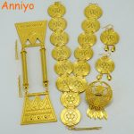 Anniyo (2 Color) Ethiopian Traditional <b>Jewelry</b> set Head <b>Accessories</b> & Earrings Eritrea Gold Color Africa Wedding Sets #057406