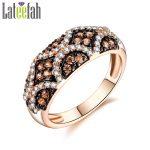 Lateefah Vintage Wedding Rings for Women Chocolate Cubic Zirconia Victoria Ring <b>Art</b> <b>Deco</b> Two Tone Royal <b>Jewelry</b> Female Ring Anel