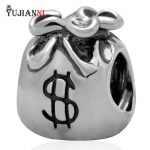 Money Bag Charms <b>Antique</b> 925 Sterling Silver Beads fit DIY Chamilia Style Snake Chain Bracelet <b>Jewelry</b>