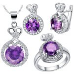Uloveido Wedding <b>Jewelry</b> Set Silver Rings Earrings Necklace Sets CZ Zircon <b>Jewelry</b> Wedding <b>Accessories</b> 60% Off Sale T462 Bijoux