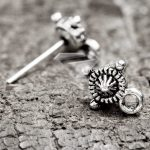 150Pcs <b>Antique</b> Silver Tibetan Silver Tone 10x15x8mm Ear stud Components Zinc Alloy Jewellry Making Findings TS1329