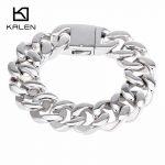 Kalen New Fashion <b>Jewelry</b> Hot Sale Male <b>Accessories</b> Stainless Steel Heavy Link Chain Bracelets Rock Style Punk For Cool Man