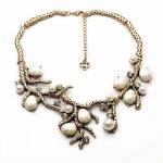 Elegant Women Statement Neckalce Party <b>Jewelry</b> Vintage <b>Antique</b> Gold Color Branch Simulated Pearl Maxi Choker Necklace