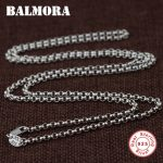 BALMORA 100% Real 925 Sterling Silver <b>Jewelry</b> Chains Necklaces for Women Men Pendant <b>Accessories</b> Wholesale Bijoux JLWC60127