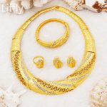 2018 New Fashion African Women 24 Gold <b>Jewelry</b> Sets Crystal Necklace Ring Earrings Charm Bride Wedding <b>Jewelry</b> <b>Accessories</b>