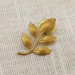 Vintage Retro Leaves Brass Brooch Costume <b>Jewelry</b> Unique <b>Antique</b> Leaf Badge Pin Goth <b>Jewelry</b>