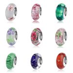 SG <b>antique</b> flower and clover Murano glass beads collection silver 925 charms fit authentic pandora bracelets <b>jewelry</b> women gift