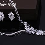 2017 New Wedding Costume <b>Accessories</b> Cubic Zircon Crystal Bridal Earrings And Necklace <b>Jewelry</b> Sets For Brides AS106