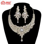 India Style women Wedding <b>Jewelry</b> Sets Crystal necklace earrings set Bridal Party <b>Jewelry</b> <b>Accessories</b> peacock fashion style