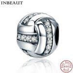 INBEAUT <b>Antique</b> 925 Sterling Silver Clear Zircon Beads Bracelet Charm Women Lovely Cute Chain Bead fit Pandora Bracelets <b>Jewelry</b>