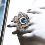 New Vintage Fashion Women Elegant Gorgeous Austria Rhinestone <b>Antique</b> Silver Tone Blue Crystal <b>Jewelry</b> Ring, Item No.: R4376