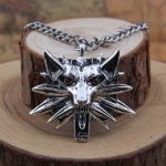 10pcs <b>Antique</b> Silver The Witcher Pendant Medallion Wizard Men <b>Jewelry</b> Wolf Wild Hunt Game Necklace Witcher 3 Wolf Necklace