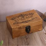 Large Vintage Wood Lock Box Retro <b>Jewelry</b> Boxes <b>Antique</b> Wooden Storage Box Jewel Management Jewelery Rangement Home Storage