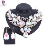 OUHE Trendy Gold Color AB Crystal Swan Bridal <b>Jewelry</b> Sets Italian for Women Girls Wedding <b>Jewelry</b> Sets Costume <b>Accessories</b> Gift
