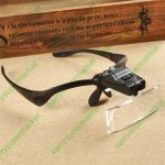 Head-weared 100X Magnifier with LED for Elderly Reading <b>Jewelry</b> <b>antique</b> magnifying glass with 5pcs glasses