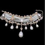 Bridal necklace wedding <b>jewelry</b> Korean heart-shaped pearl chocker necklace earrings wedding hair <b>accessories</b>