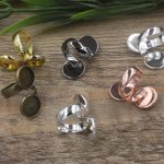 50pcs 10mm,12mm pad ring blank with Cameo Tray,<b>Antique</b> Bronze/Gold/Silver Ring setting,Handmade DIY Zakka <b>jewelry</b> Finding