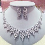 New style Luxury AAA+ Cubic Zircon Earring and Necklace Wedding <b>Jewelry</b> Set For Brides Dress <b>Accessories</b> N0195/E5151
