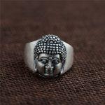 BESTLYBUY 100% Genuine 990 Pure Silver Buddha Head Ring for Women Men Vintage Thai Silver Ring <b>Jewelry</b> <b>Accessories</b>