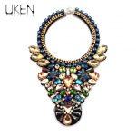 UKEN Luxury Shining Crystal Beads Choker Collar Wedding Dress <b>Accessories</b> <b>Jewelry</b> Fashion Necklace For Women N2508