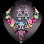 Fashion Indian Necklace Earrings Sets Bridal <b>Jewelry</b> Sets Top Quality Crystal Party Wedding Costume <b>Accessories</b> for Brides Women