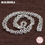 BALMORA 100% Real 925 Sterling Silver <b>Jewelry</b> Chains Necklaces for Men Thai Silver Necklace 18-32 inch <b>Accessories</b> Gifts CK0096