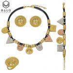 BAUS Turkey gold <b>jewelry</b> Indian fashion <b>jewelry</b> sets women necklace bracelet earrings ring Dubai Mother's Day gift <b>accessories</b>