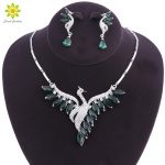 Fashion Wedding Bridal <b>Jewelry</b> Sets Peacock Necklace Earrings Set Party Prom Wedding <b>Accessories</b> Decoration