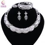 <b>Jewelry</b> Set Necklace and Earrings Sets Designer Vintage African Costume Women Wedding <b>Accessories</b> Silver Color Jewellery