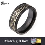 black ring for men <b>jewelry</b> 316L stainless steel rings with gift box vintage <b>antique</b> rings boys hiphop <b>jewelry</b> R994G