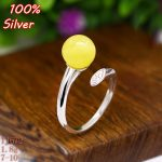 100% 925 sterling-silver-<b>jewelry</b> Adjustable Ring Blank For Woman Fit 7-10MM Zircon Ring Base Setting Round Stone <b>Antique</b> Silver