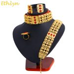 Ethlyn Big Choker Sets Ethiopian Eritrean Traditional <b>Jewelry</b> <b>Accessories</b> Gold Color Classic Bridal Wedding Sets S121