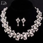 DODO Chic Sweet Leaves <b>Jewelry</b> Sets For Women Simulated Pearls Austrian Crystal Wedding <b>Accessories</b> Necklace Earrings Set HD004