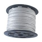 3mm 100yards/roll Faux Suede Cord Thread for <b>Jewelry</b> Necklace Bracelet Making DIY <b>Accessories</b> Findings, Silver