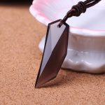 Obsidian Men' <b>Jewelry</b> <b>Antique</b> Tribal Stark Wolf Fang Tooth Pendant Necklace Vintage Wolf Tooth Dragon Titanium Pendant Necklace