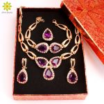 Fashion Wedding African Beads <b>Jewelry</b> Sets Crystal Necklace Set For Women Gold Color <b>Jewelry</b> Set Wedding <b>Accessories</b>+Gift Boxes