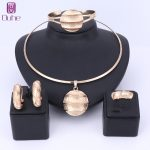 Dubai Gold Color <b>Jewelry</b> Sets Necklace Earrings Bangle Ring Indian Sets For Women Costume <b>Accessories</b> Wedding Bridal Gift